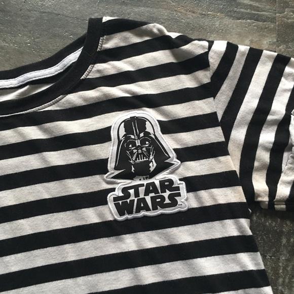 Star Wars Tops Star Wars Darth Vader Striped Black White
